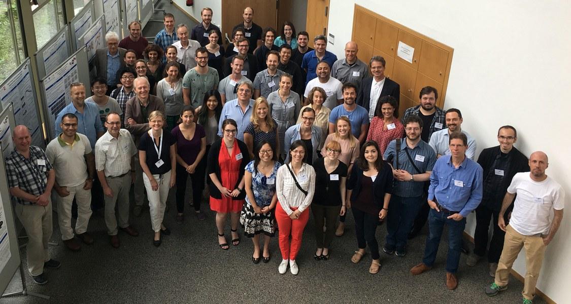 """Gruppenfoto mit Beteiligten des Internationalen Graduiertenkollegs """"The Brain in Action"""""""