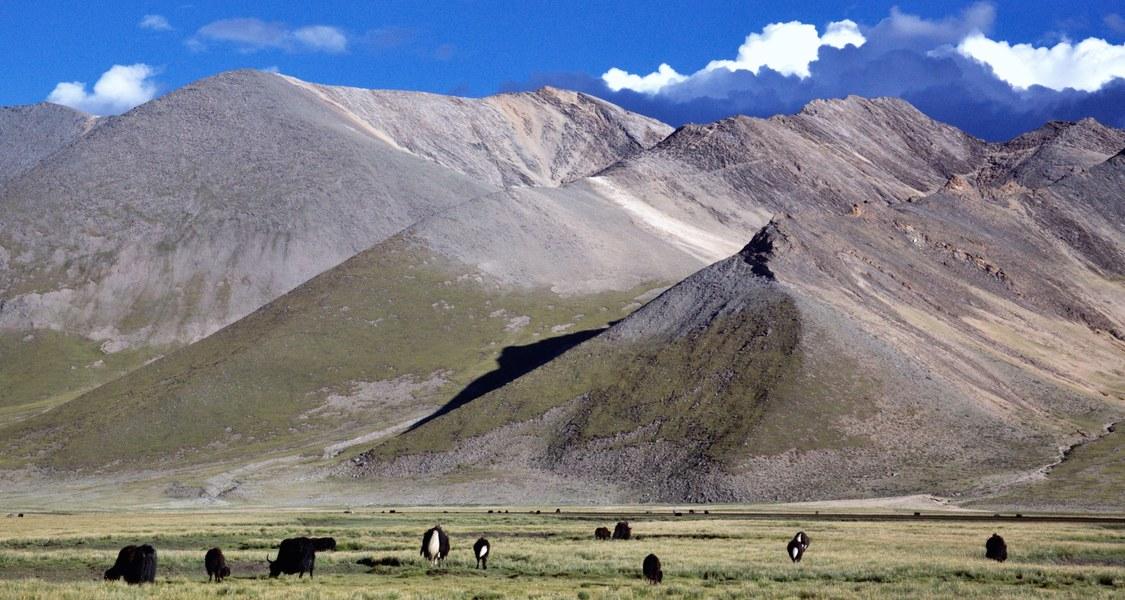 Foto von der tibetischen Hochebene