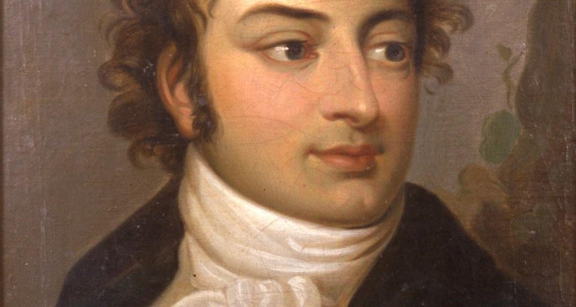 August Wilhelm Schlegel als Mittdreißiger, portraitiert von einem unbekannten Künstler.