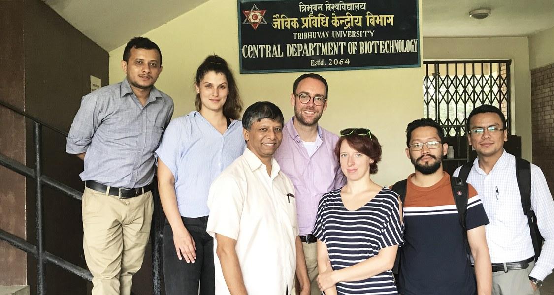 Gruppenfoto des Forscherteams