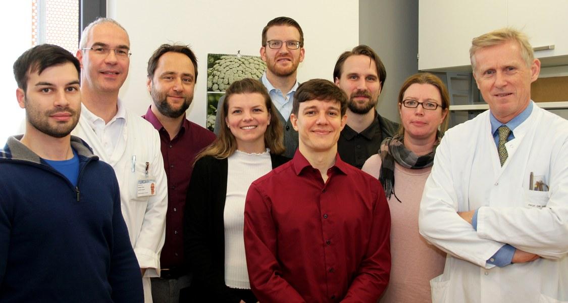 Gruppenfoto im Labor