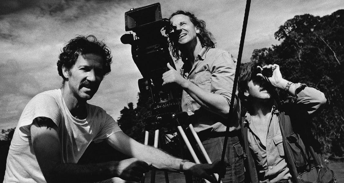 Mauch mit Kamera und Werner Herzog bei den Dreharbeiten zu Fitzcarraldo