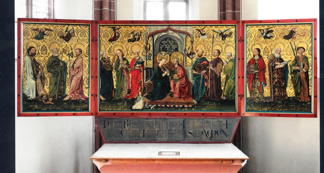 Den Titel des ersten Teilbandes ziert der Altar der Katholischen Pfarrkirche Sankt Maria in Wächtersbach-Aufenau.
