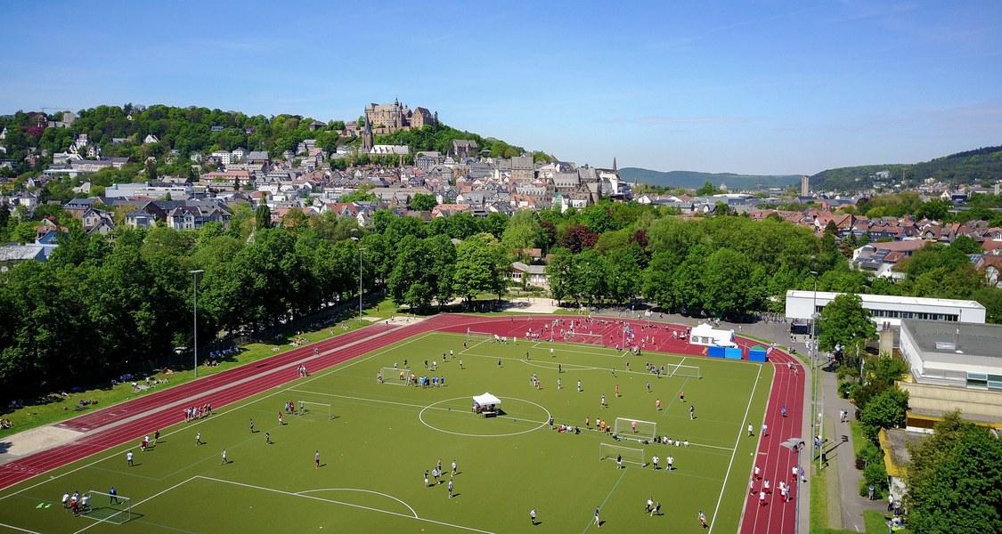 Panoramafoto des Uni-Stadions