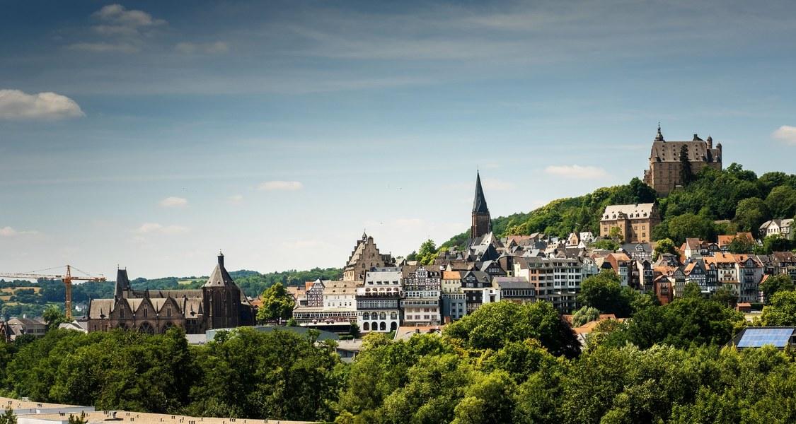 Panoramafoto Marburger Altstadt