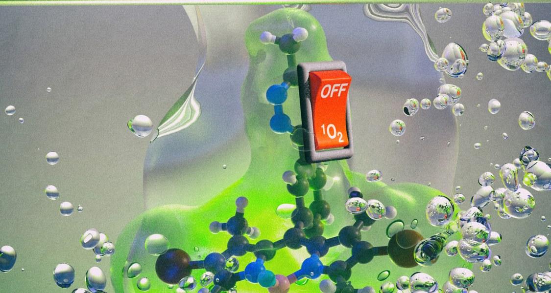 """Licht legt den Schalter um: Das Fachmagazin """"Angewandte Chemie"""" würdigt die Erkenntnisse des Marburger Forschungsteams mit einer Titelgeschichte."""
