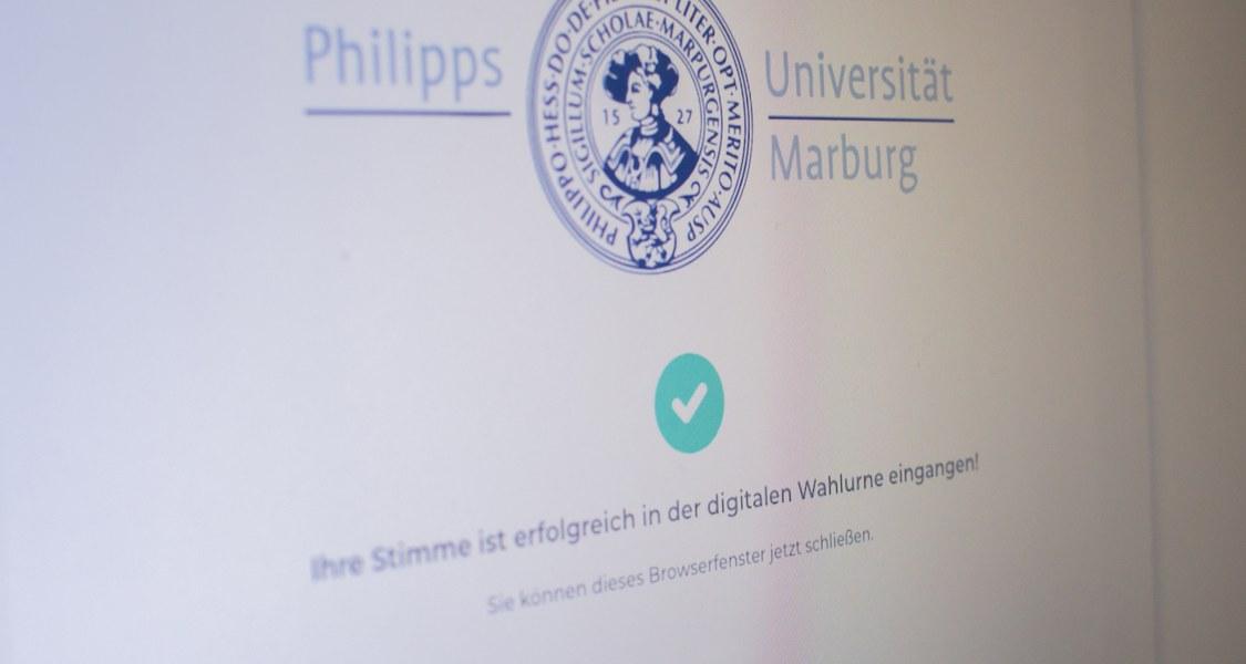 Bildschirmfoto nach Stimmabgabe