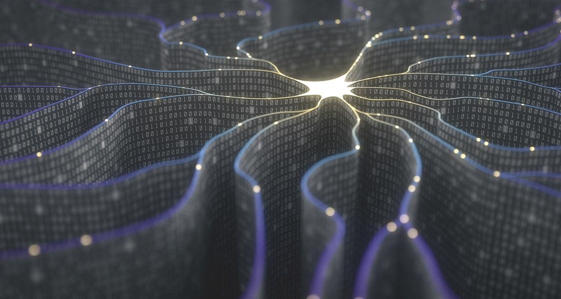 Illustration knotenförmiger Strahlen mit Binärcode