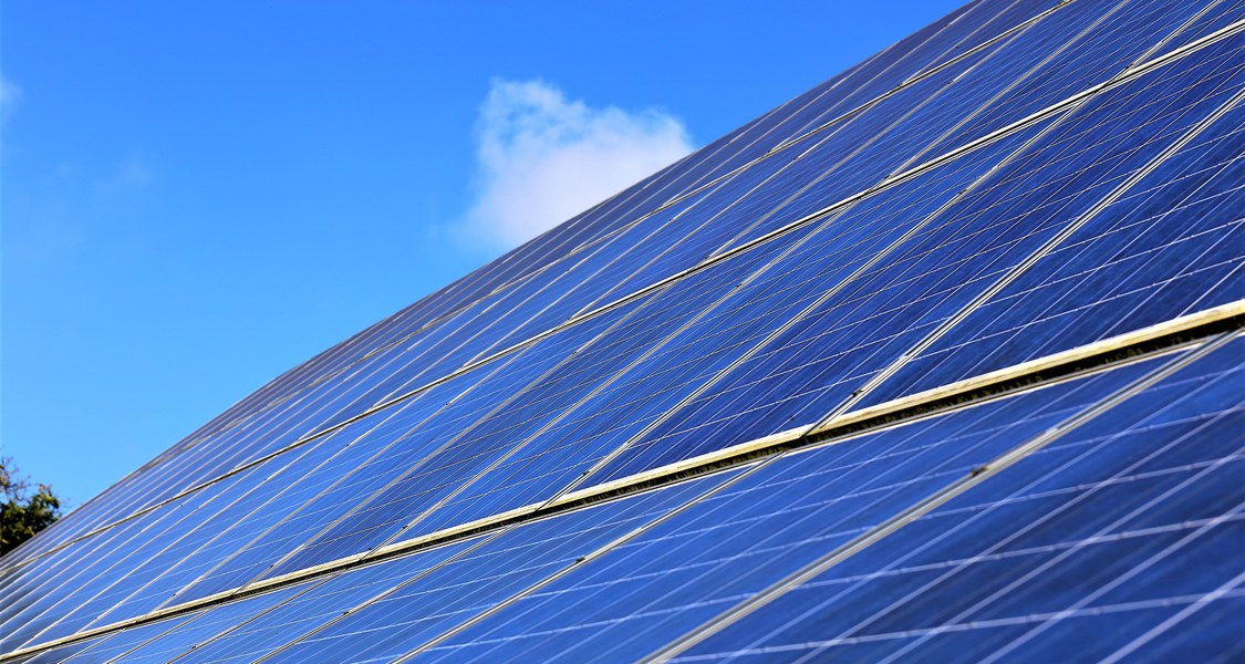 Foto einer Photovoltaik-Anlage