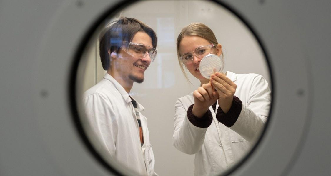 Studierende am Fachbereich Biologie