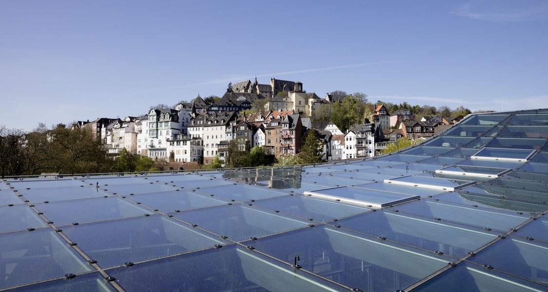 Foto mit Sicht auf Marburg
