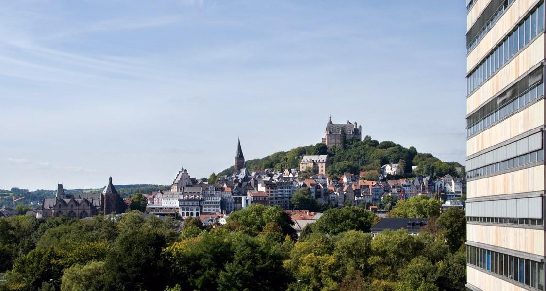 Foto mit Blick auf Marburg