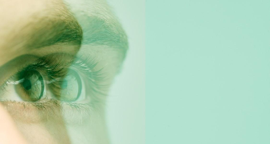 Foto eines verzerrten Auges