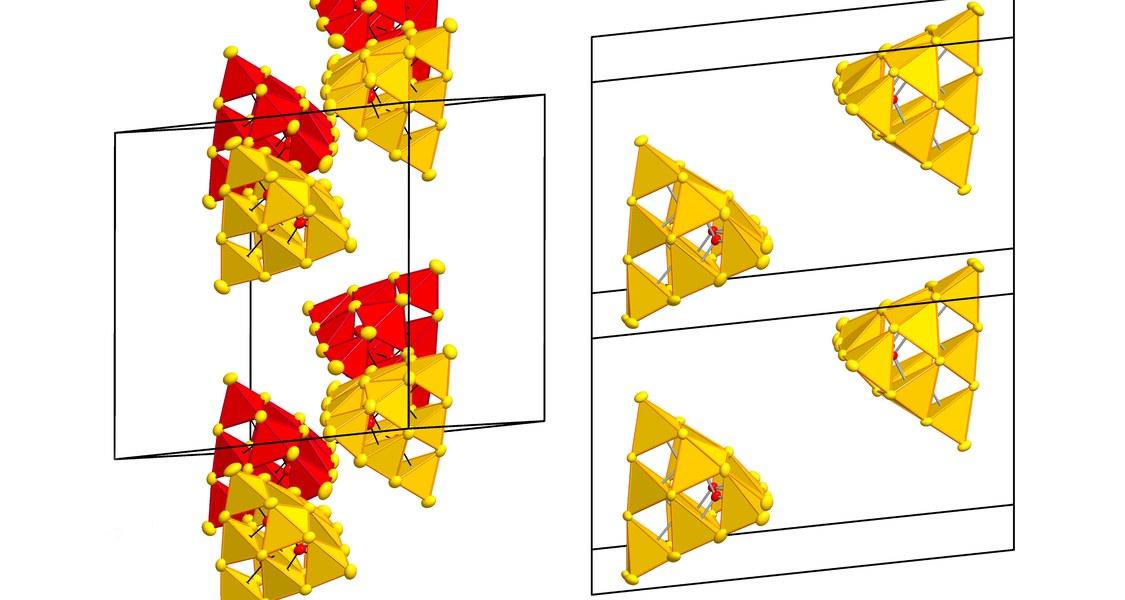Vereinfachte Ansicht der erzeugten Supertetraeder