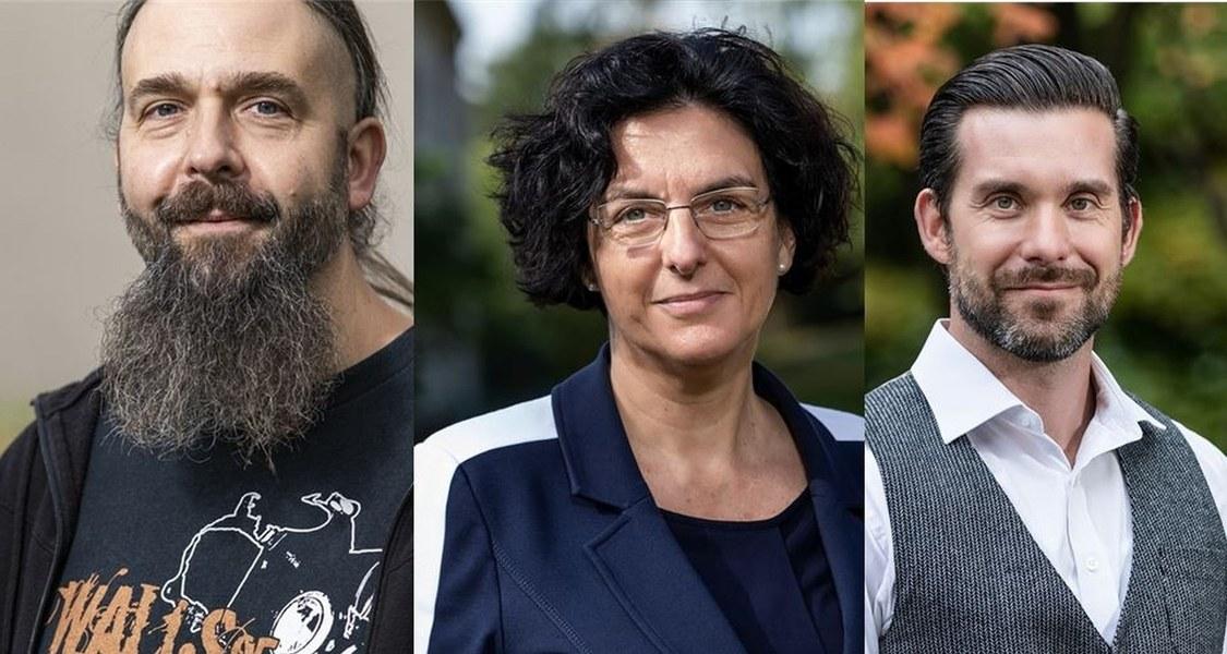 Preisträger Dr. Pierre Hecker, Prof. Dr. Katja Becker und Prof. Dr. Dominik Heider