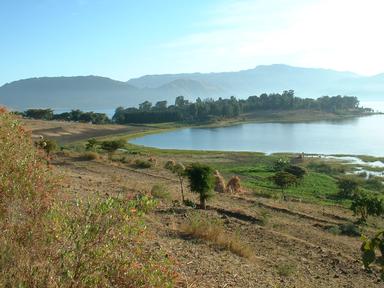 Blick auf das Kloster Ḥayk bei Dessie (Äthiopien)