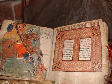Altäthiopische Handschrift des Täʾamrä Māryām (= Marienwunder)