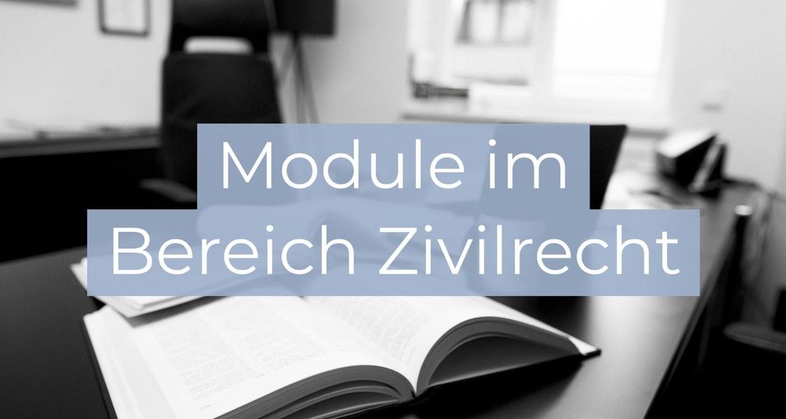 Jurastudium, Jura studieren, Zivilrecht, Module im Zivilrecht