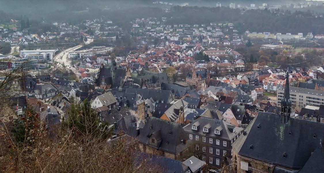 Blick auf Marburger Häuser