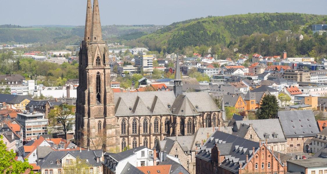 Elisabethkirche Vogelperspektive