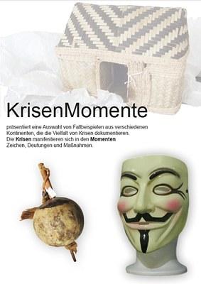 Plakat Ausstellung KrisenMomente