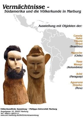 Plakat Vermächtnisse – Südamerika und die Völkerkunde in Marburg. Ausstellung