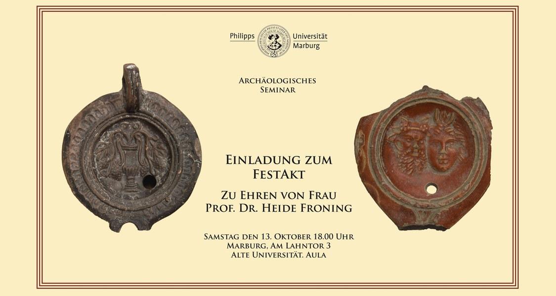 Einladung zum FestaktZu Ehren vonFrau Prof. Dr. Heide Froning