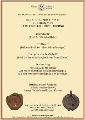 Einladung zum Festakt Frau Froning