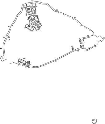 Pedasa Plan der Akropolis