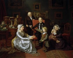 Ferdinand Georg Waldmüller, Die Adoption (1849) Muzeum Narodowe Wroclaw.