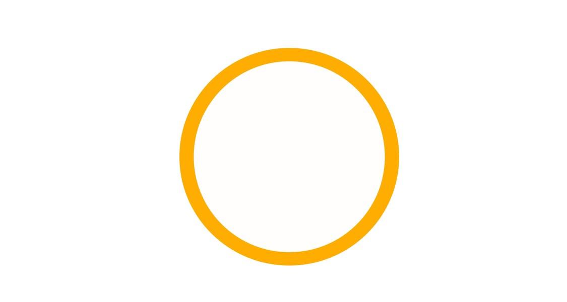 Orangener Kreis auf weißem Grund, Logo des Förderkreises