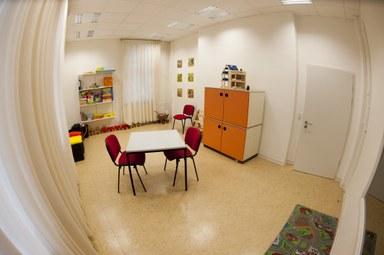 Der Therapieraum für Kinder des Kling ist zu sehen.
