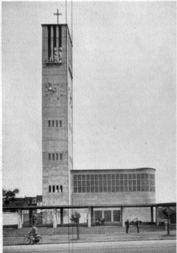 Dortmund Nikolaikirche, Ansicht von der Lindemannstrasse um 1930
