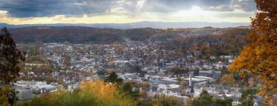 Panorama über Marburg