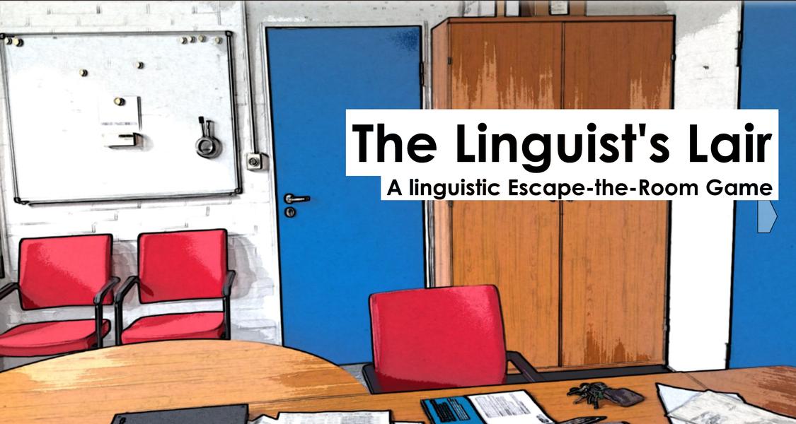 """Titelbildschirm von """"The Linguist's Lair"""""""