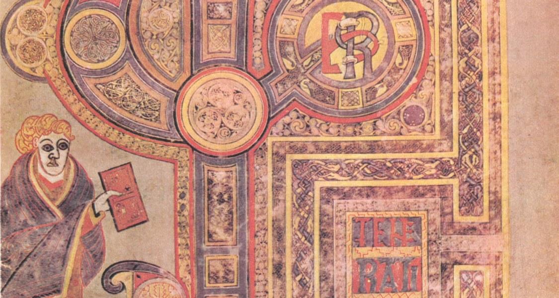 Eine Bildseite aus dem Book of Kells