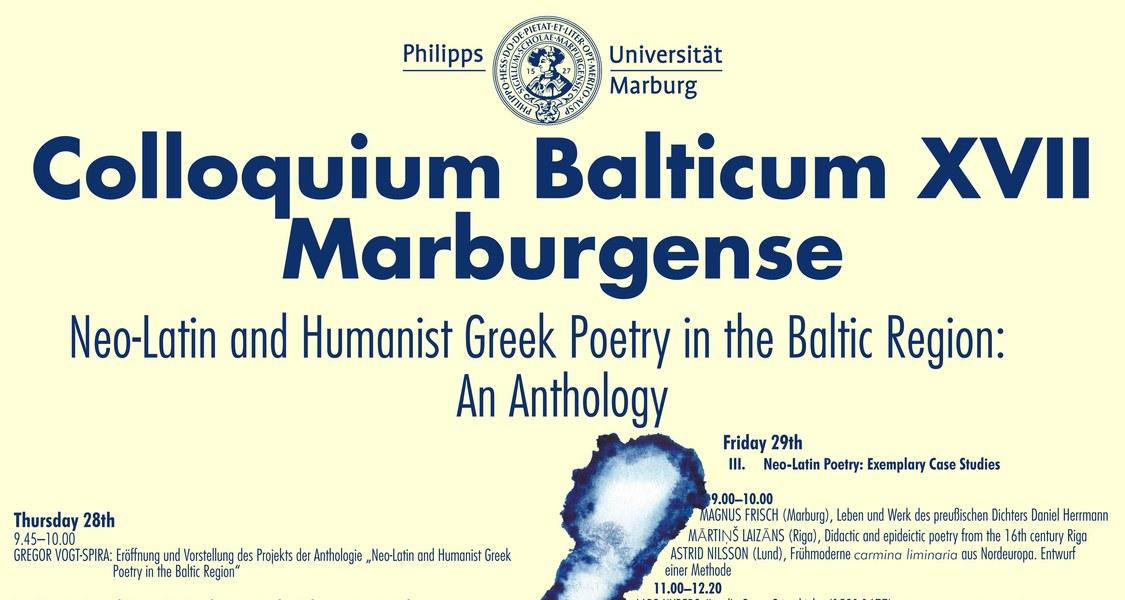 Plakat des Colloquium Balticum XVII Marburgense