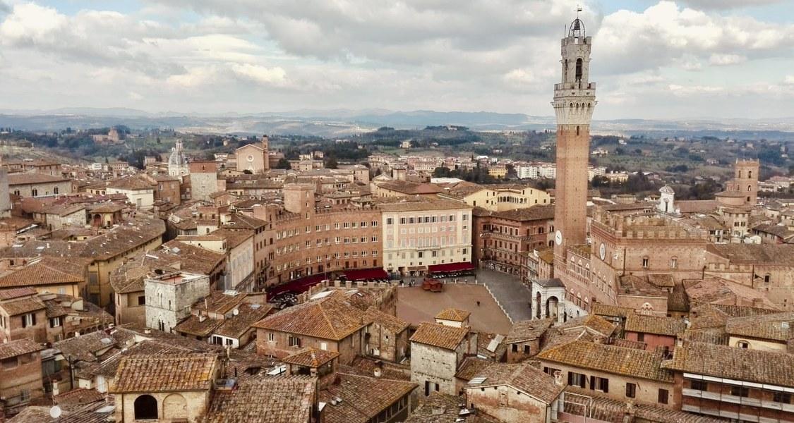 Blick auf den Campo di Siena