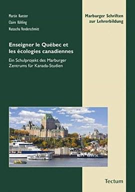 Ein Buchcover, darauf ein Foto von Schiffen vor dem Chateau Frontenac in Quebec