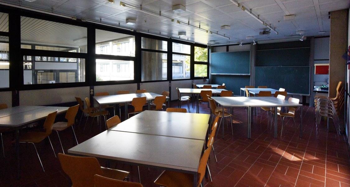 Lernzentrum des Fachbereichs Mathematik und Informatik ohne Studierende