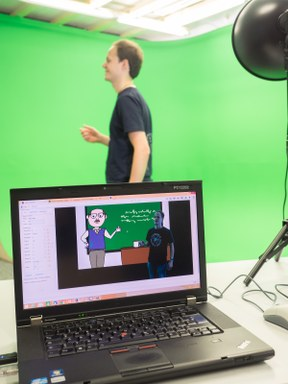 Green Screen im Informatiklabor