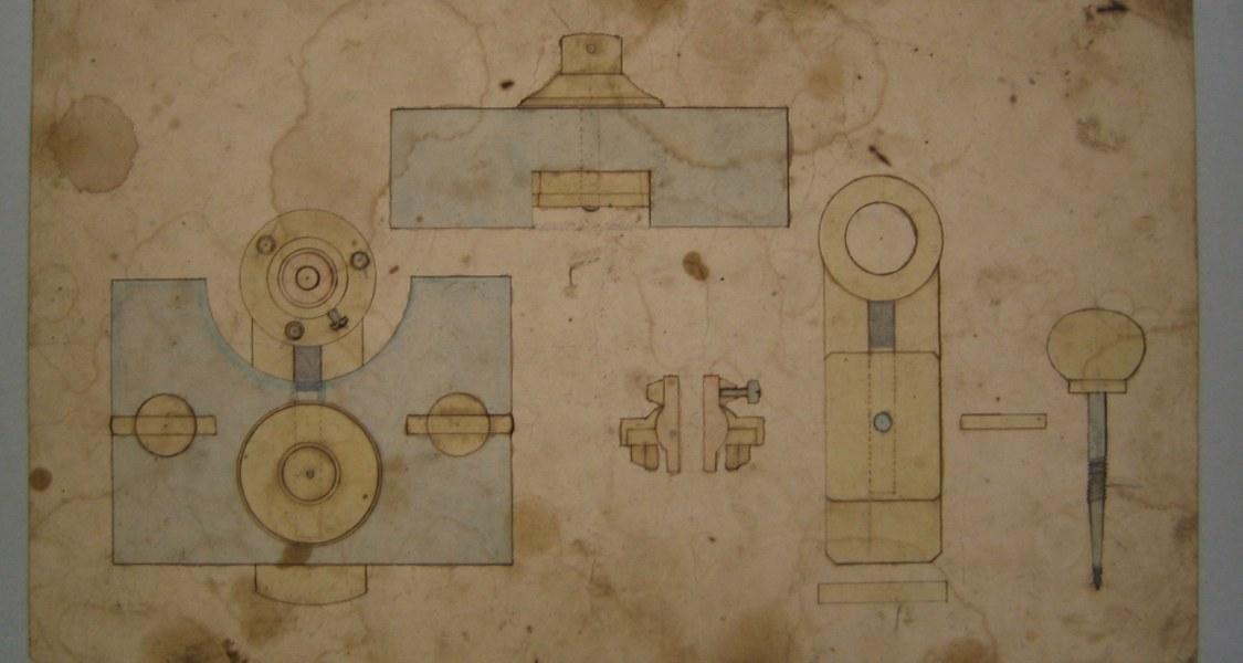 Alte Zeichnung eines mathematischen Modells