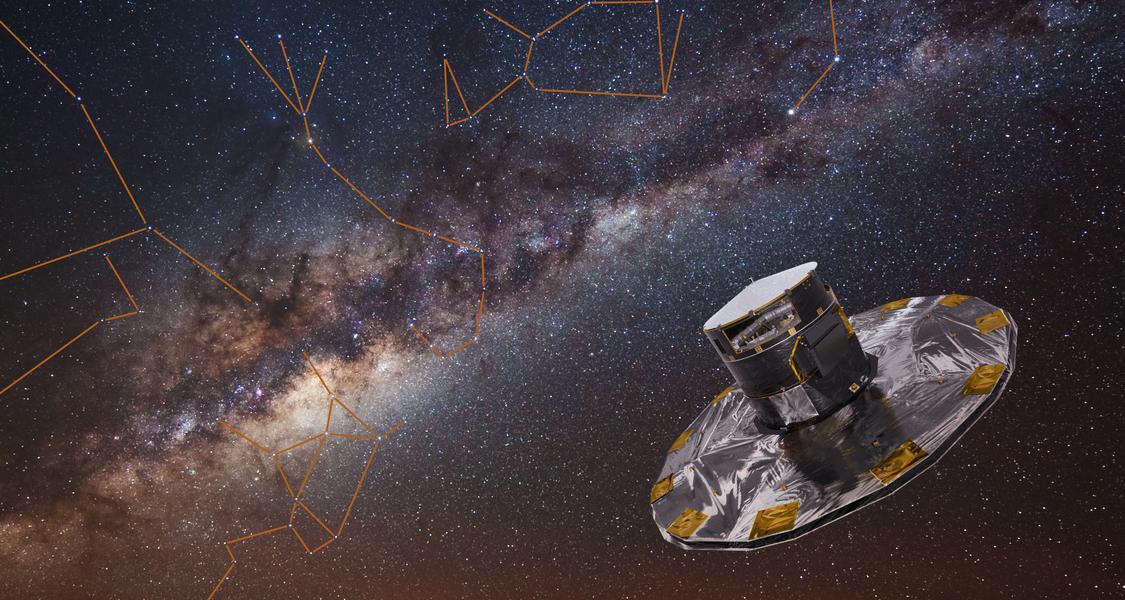 Die Raumsonde Gaia vermisst den Sternenhimmel mit höchster Präzision