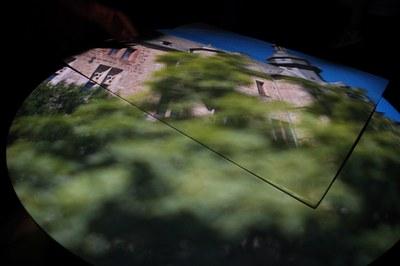 Projektionsbild in der Camera Obscura