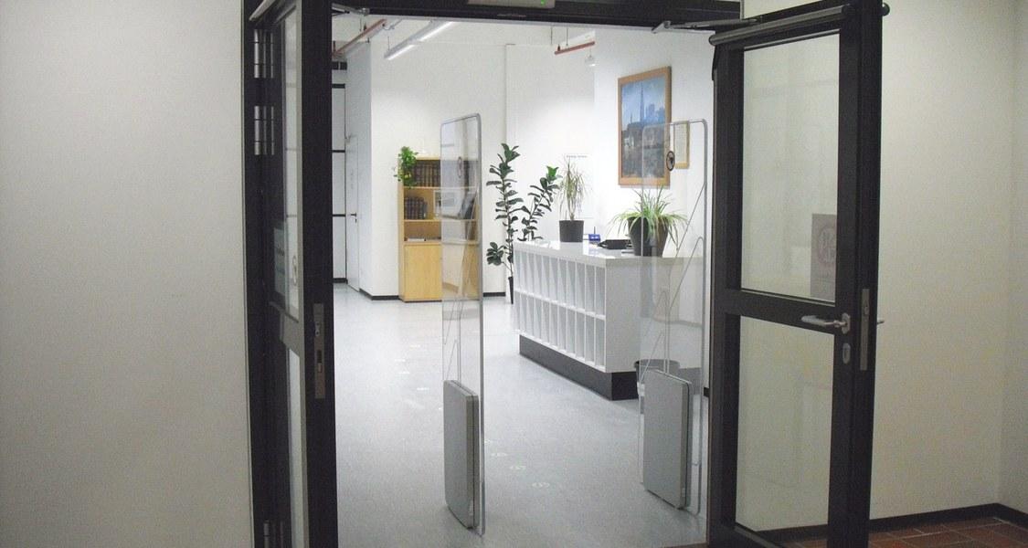 Eingang der Bibliothek
