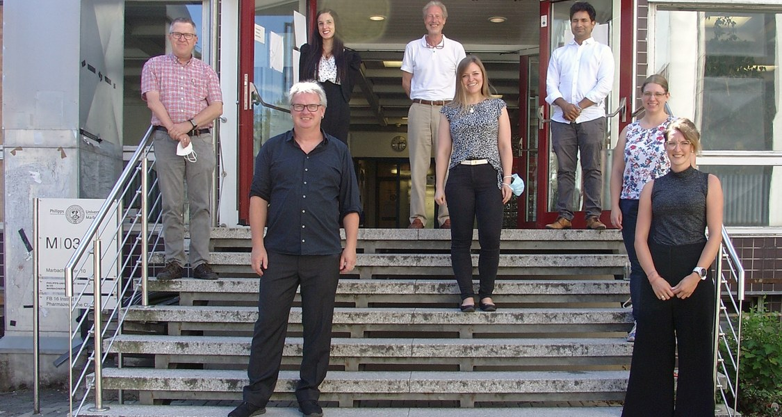Mitglieder des BMBF-geförderten Konsortiums HELIATAR (D.Helmecke/FB Pharmazie,Uni Marburg).