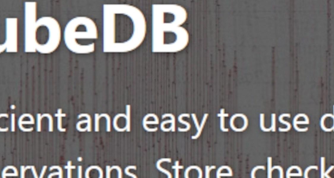 Screenshot einer Webseite mit Zeitreihendaten.