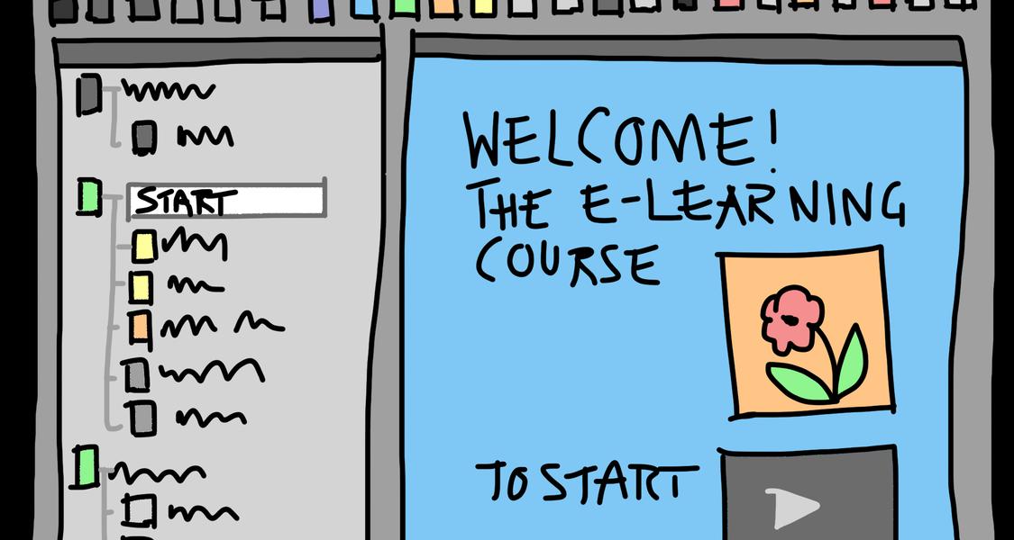 Comic zu e-learning Startseite