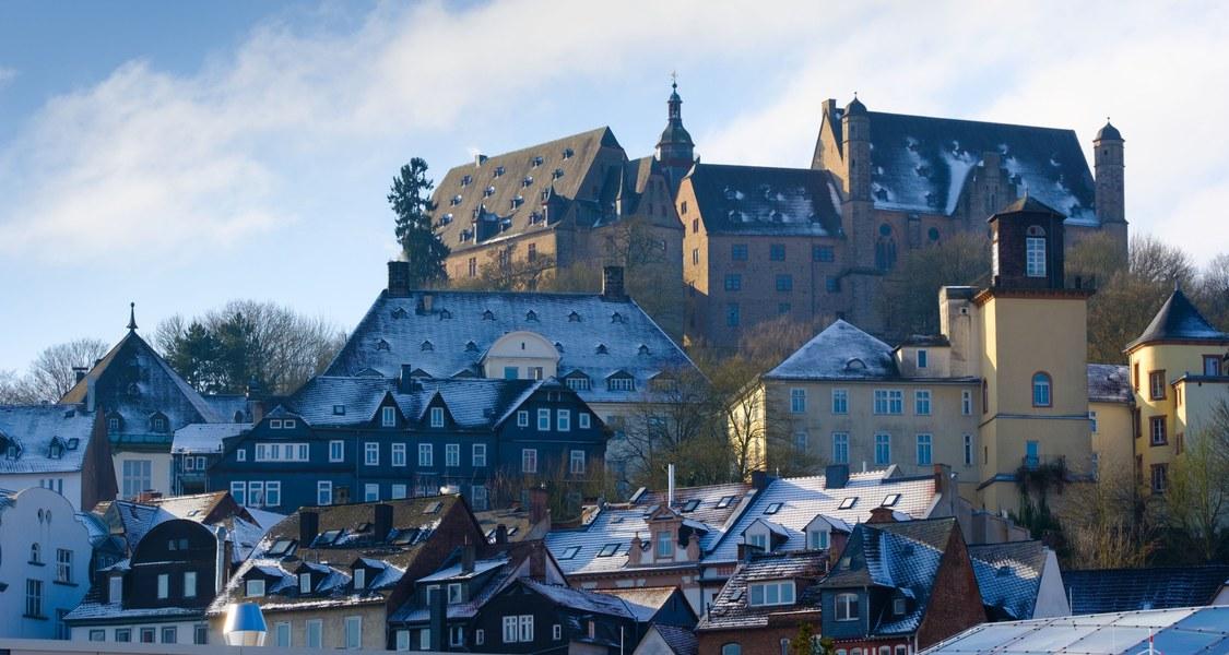 Schlossblick von der neuen UB aus