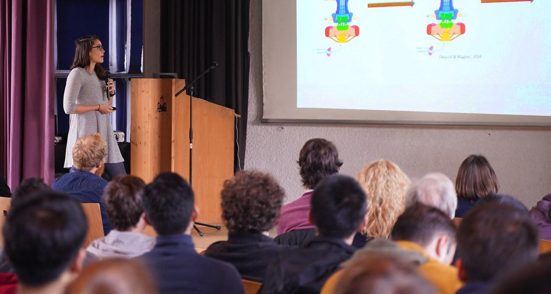 Foto: Vortragende Doktorandin International Max Planck Research School